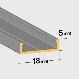 Lower rail 5mm