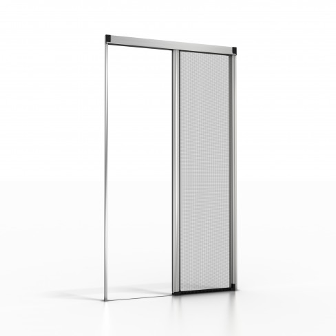 Side roll up fly screen with lower bottom rail silver 04 for Roller fly screens for doors